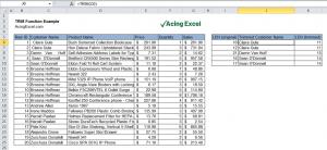 Excel TRIM function