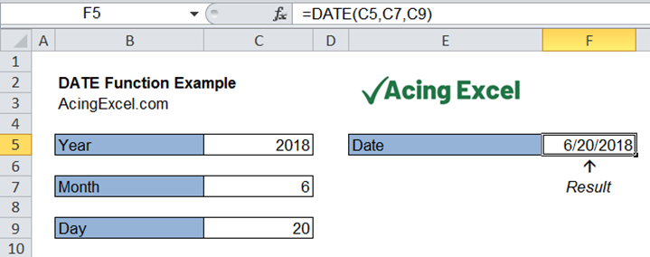 Read more about the article Excel DATE function
