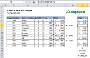Read more about the article Excel IFERROR function