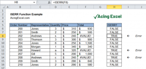 Read more about the article Excel ISERR function
