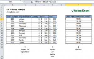 Read more about the article Excel OR Function