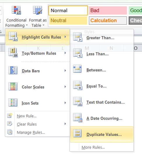 Excel Find Duplicates Conditional Formatting