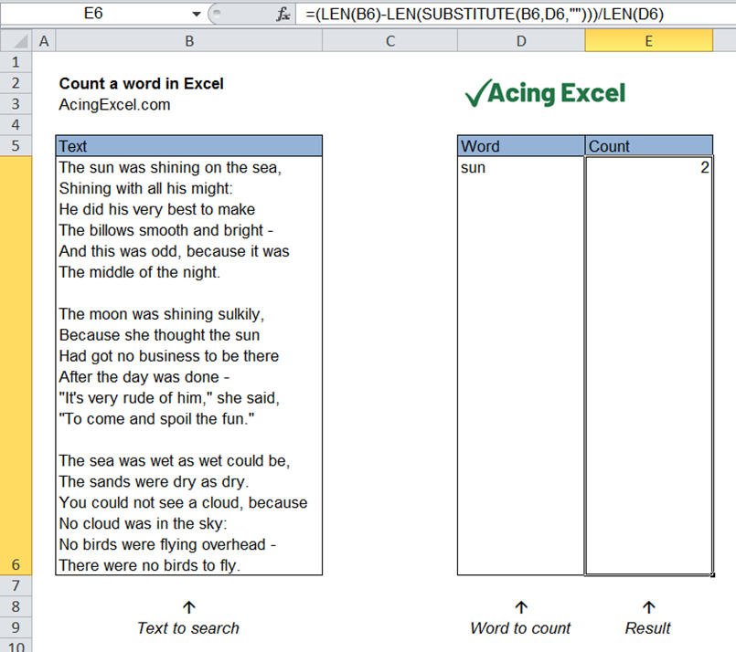Read more about the article How to count a word in Excel